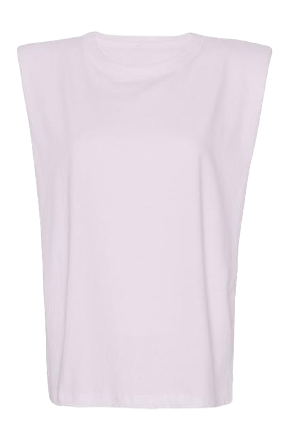Eva Padded Shoulder Muscle T-shirt / Lilac General Frankie Shop