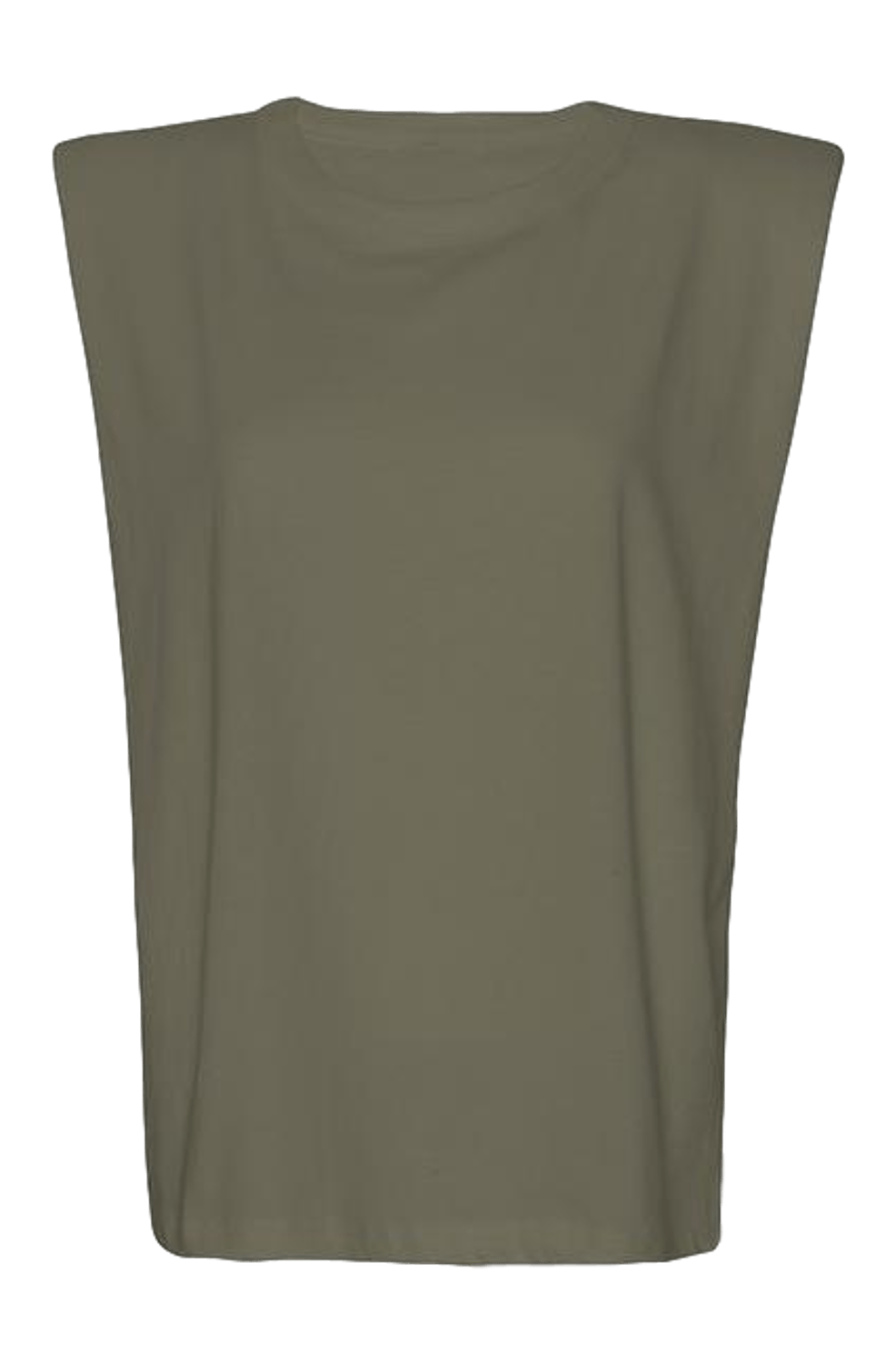 Eva Padded Shoulder Muscle T-shirt / Olive General Frankie Shop