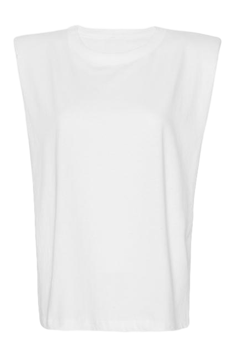 Eva Padded Shoulder Muscle T-shirt / White General Frankie Shop
