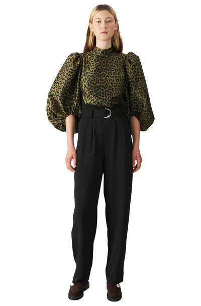 Heavy Crepe Pants / Black Womens GANNI