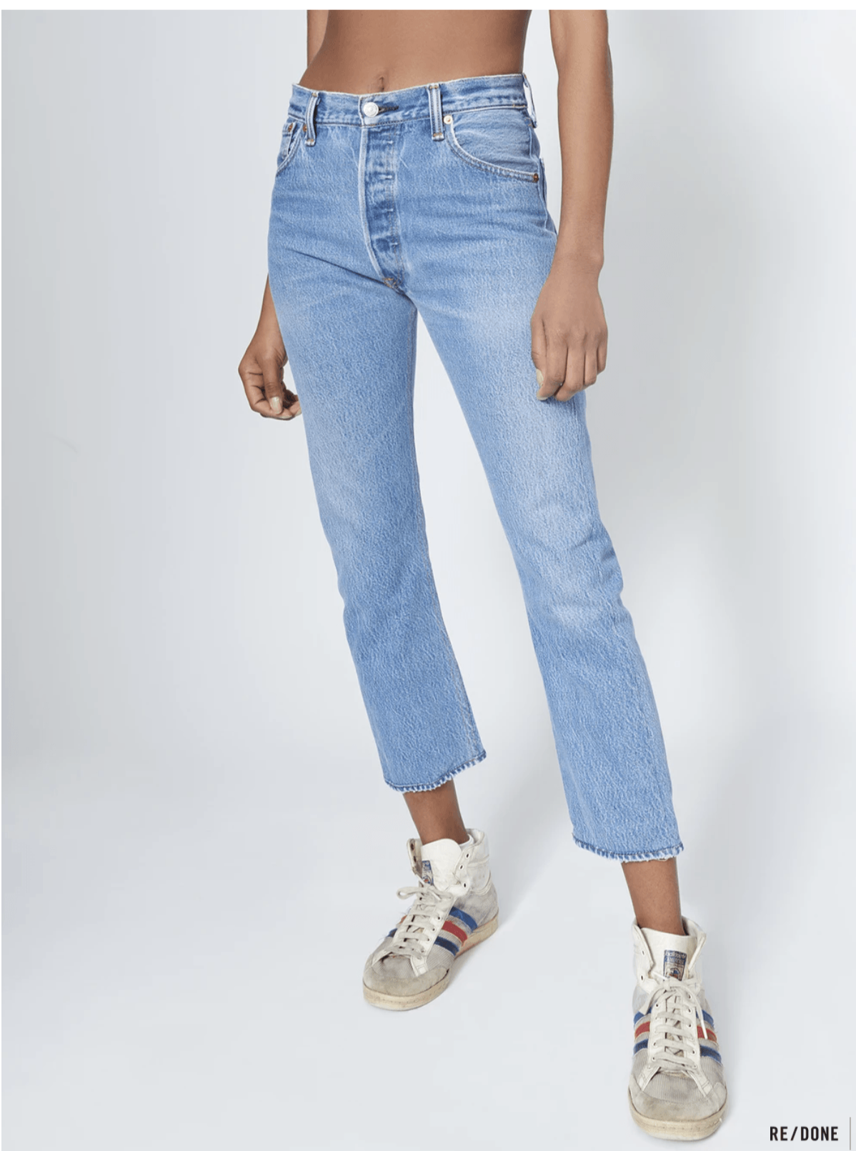 High Rise Ankle Crop / Indigo Womens RE / DONE