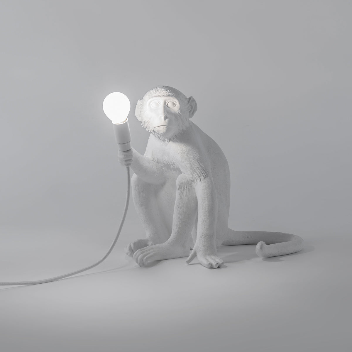 Monkey Sitting Lamp / White Seletti Seletti