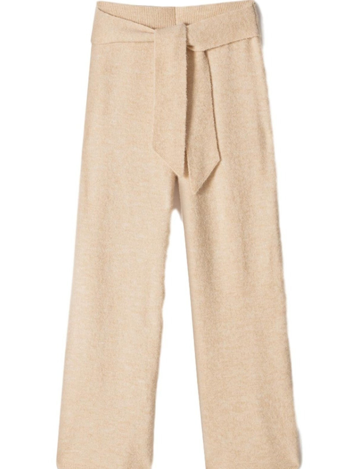 Nea Fluffy Knit Pants / Creme Womens Nanushka