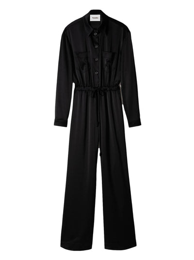Odella Satin Jumpsuit / Black Womens Nanushka