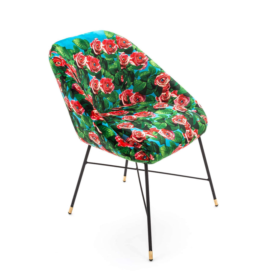 Padded Chair / Roses