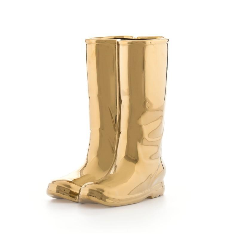 Rainboots Umbrella Stand / Gold Seletti Seletti