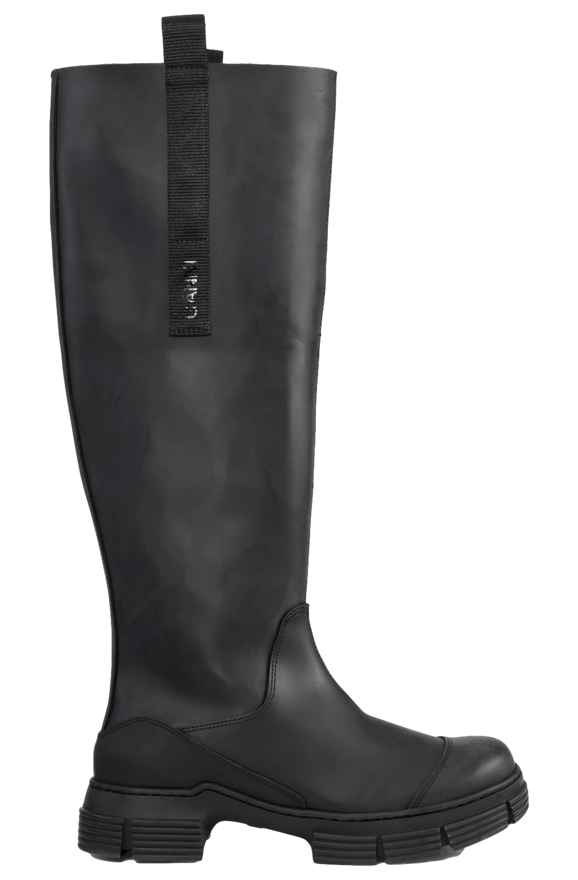 Recycled Rubber Country Boots / Black Womens GANNI