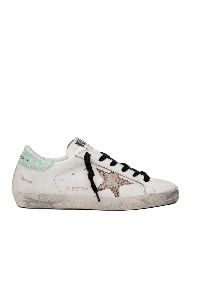Sneakers Superstar / White Leather- Printed Orange Snake Star Womens Golden Goose Deluxe Brand