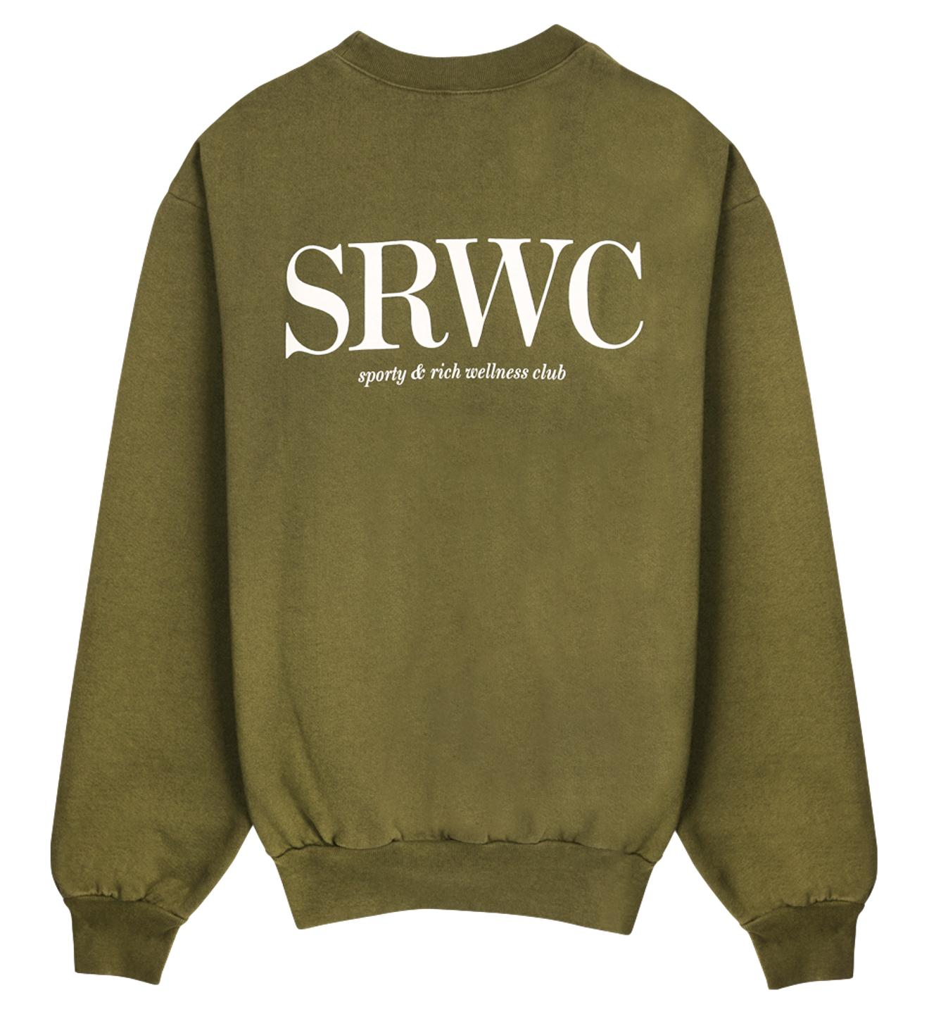 Upper East Side Crewneck / Olive Womens Sporty & Rich