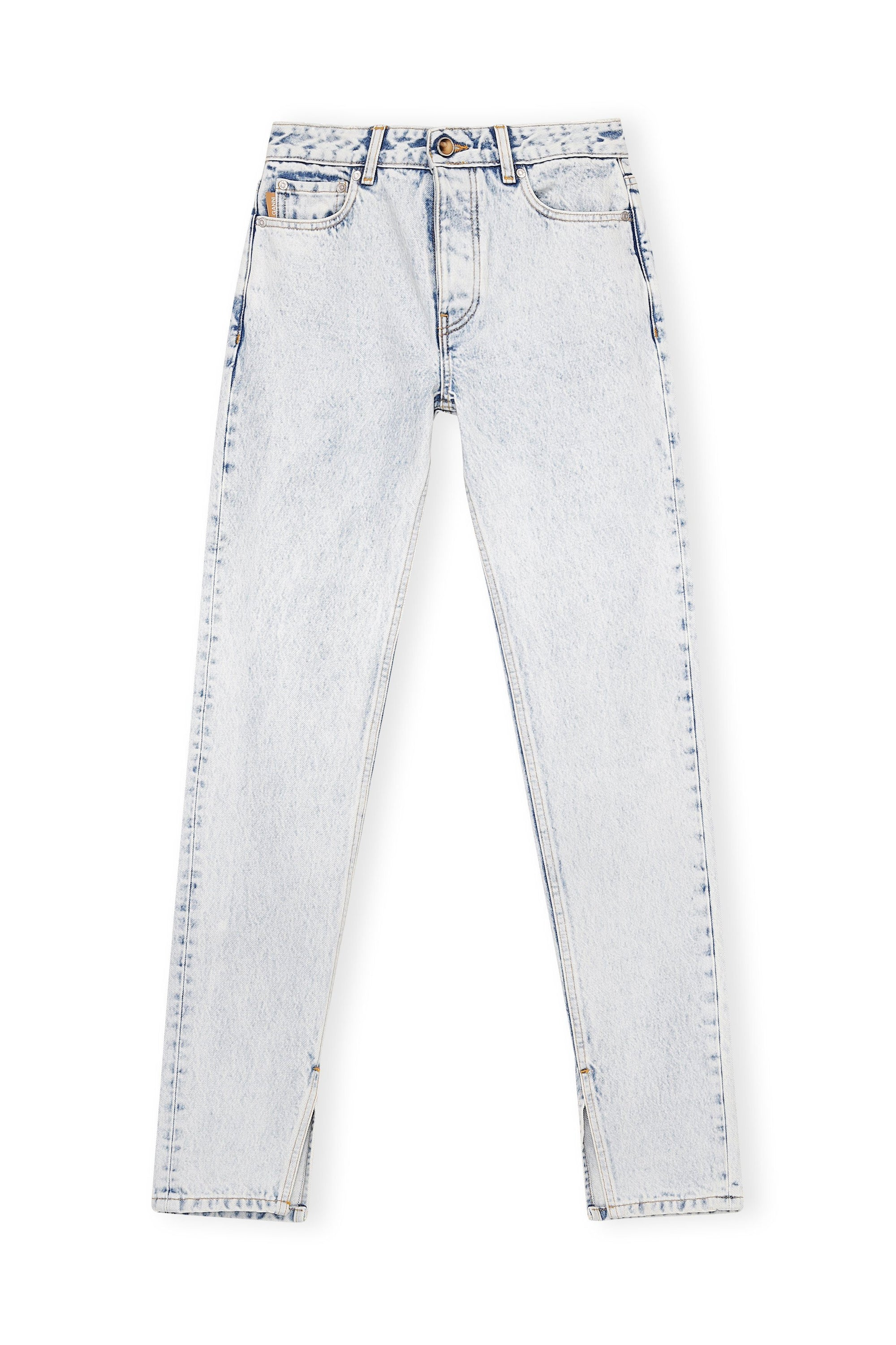 Washed Denim Slim Jeans / Bleach Womens Ganni