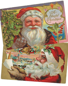 VINTAGE SANTA CLAUS POSTCARDS THE SPECIAL CHRISTMAS GIFT