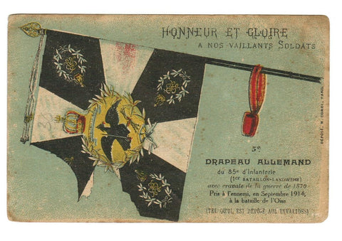 "PROPAGANDA ""THE FLAG OF GERMANY"" VINTAGE POSTCARD.  1910"