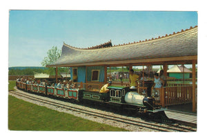 MINIATURE TRAIN. EDMONTON, AB.  STORYLAND ZOO. CANADA CHROME POSTCARD
