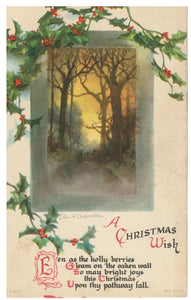 ARTIST SIGNED POSTCARD. A CHRISTMAS WISH. ELLEN CLAPSADDLE