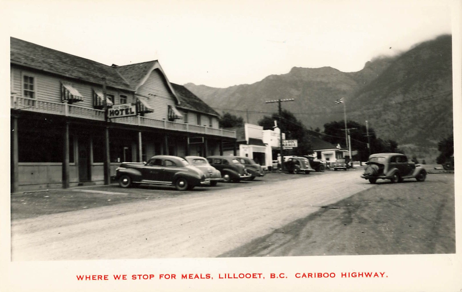Lillooet, BC. Hotel With Automobiles Out Front. Cariboo Series. Canada RPPC Postcard