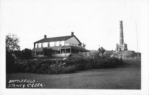 Stoney Creek, Hamilton, ON. Battlefield House And Monument. Canada RPPC Postcard