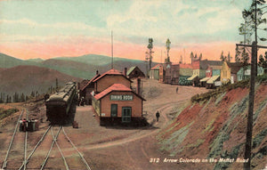 Arrow, CO. Railway Depot On The Moffat Road Railroad Exchange. USA Postcard