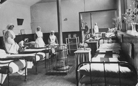 Nurses Attending To Patients In Hospital. Vintage RPPC Postcard