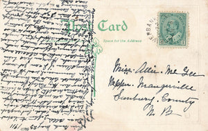 River Bank, NB. 1911 Split Ring (1878-1925) On Canada Postcard