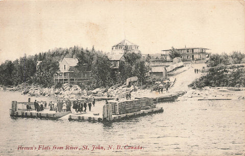 New Brunswick, St. John. Brown's Flats From River. Canada Private Postcard