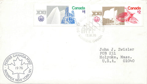 Quebec. 1976 Montreal Olympics First Day Cover
