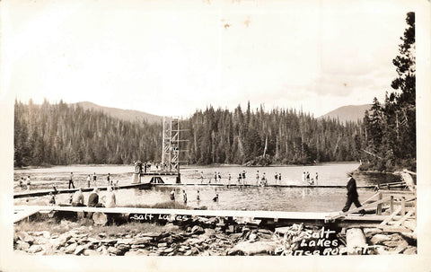 Prince Rupert, British Columbia. Sunbathers At Salt Lakes. Canada RPPC Postcard