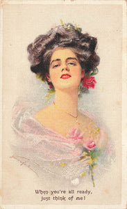 Artist Signed Postcard. F. Hartmann Series No 1910. First To Establish Divided Back (Scarce)