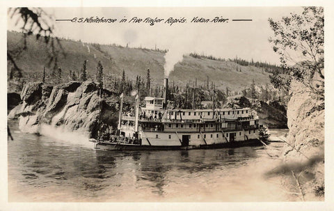 Yukon. S.S. Whitehorse In Five Finger Rapids. Gowen Sutton Canada RPPC Postcard
