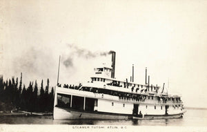 Steamer Tutshi In Atlin, British Columbia. Canada RPPC Postcard