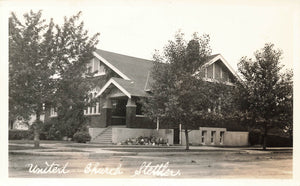 Stettler, Alberta United Church. Canada Real Photo Postcard