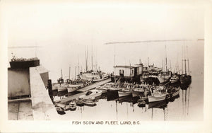 Lund, British Columbia Fish Scow And Fleet. Canada Real Photo Postcard