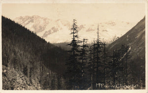 Glacier, British Columbia Mt. Bonney. Canada Real Photo Postcard