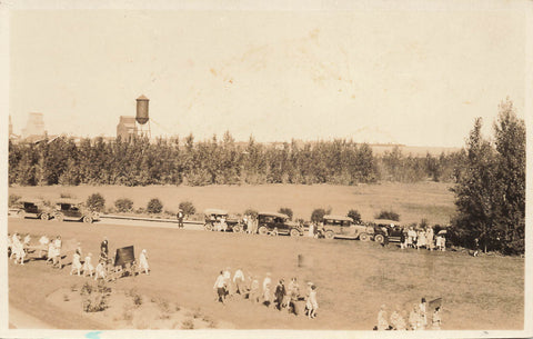 Alberta.1927 Parade Event In Claresholm. Canada Real Photo Postcard