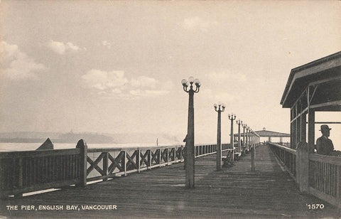 Vancouver, British Columbia English Bay Pier. Chapman Canada Postcard