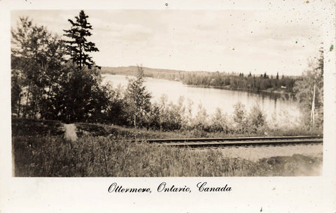 Water View In Ottermere, Ontario. Canada Real Photo Postcard