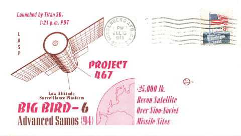 Vandenberg Air Force Base, California 1973 USA Cover Project 467 Big Bird 6 Recon Satellite
