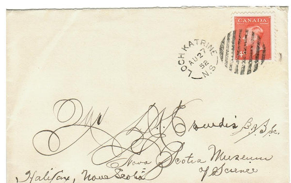 N.S. LOCH KATRINE. COVER. 1952 SPLIT RING. (1897-1953) LATE USE. CANADA.