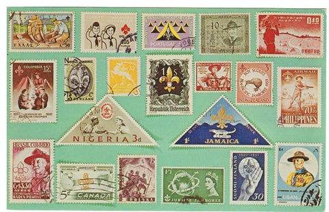BOYSCOUTS: WORLD WIDE STAMPS ON POSTCARD