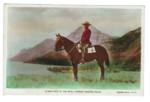 ANTIQUE POSTCARD RCMP CONSTABLE REAL PHOTO