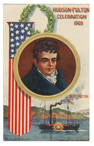 HISTORIC VINTAGE PATRIOTIC POSTCARD
