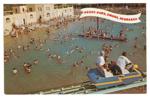 OMAHA NEBRASKA  AMUSEMENT PARK POSTCARD