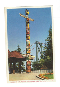 VANCOUVER BRITISH COLUMBIA TOTEM POLE  PROSPECT POINT