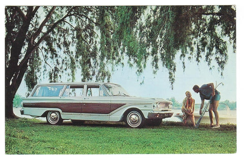 OLD 1963 FORD FARLANE SQUIRE WAGON CHROME
