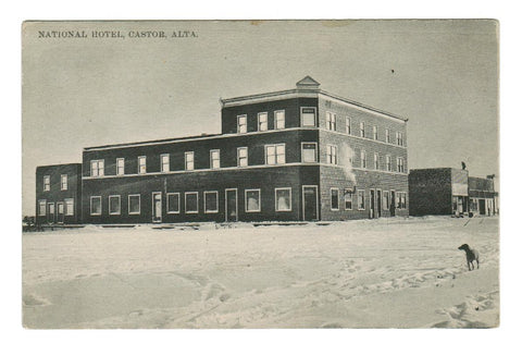 CASTOR, ALBERTA  POSTCARD  NATIONAL HOTEL