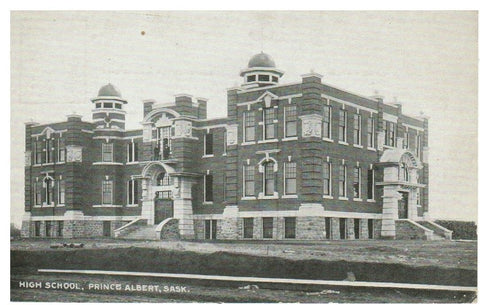 SK. PRINCE ALBERT HIGH SCHOOL POSTCARD