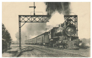 PENNSYLVANIA R.R NEW YORK TO CHICAGO EXPRESS AT FULL SPEED POSTCARD, RPPC