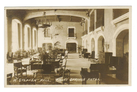 HARMON (NOT NUMBERED) MT STEPHEN HALL BANFF SPRINGS HOTEL RPPC