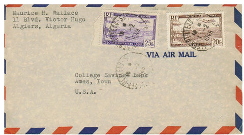 ALGERIA, ALGIERS 1948 AIRMAIL TO AMES IOWA U.S.