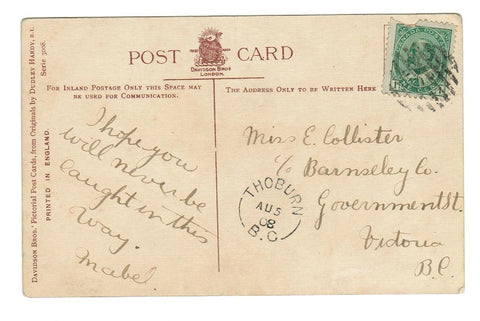 "SPLIT RING CANCEL.  THOBURN, BRITISH COLUMBIA.  1908, RF ""D""  (1907-1917)"
