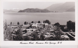 BC. Harrison Hot Springs. RPPC Postcard. Aerial View. British Columbia, Canada